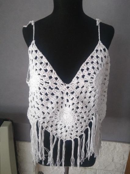 Top Musculosa Remera Tejida Crochet Grannys