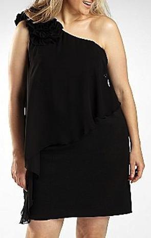 Vestido De Coctel Sl Fashions Negro Talla 22w