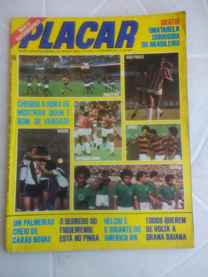 Placar Nº 290 - Com A Tabela Do Brasileirão De 1975
