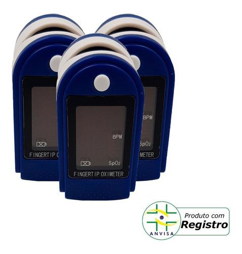 Kit 3 Aparelho Portátil Dedo Saturação Batimentos Cardíacos
