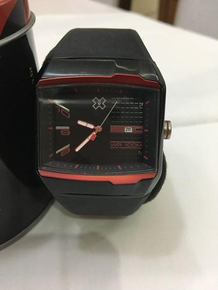 Relógio De Pulso X-games P1014 Preto Masculino 10atm
