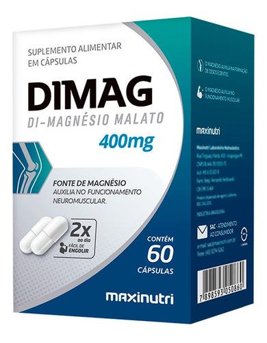 Dimag Magnésio Dimalato Maxinutri 400mg Com 60 Cápsulas
