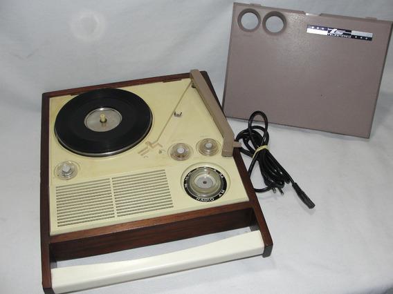 Antiga Vitrola Toca Disco Portatil Radio Am - Veja O Video