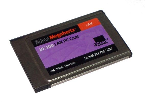Pcmcia 3com Megahertz Lan 10/100 Mbps 3ccfe575bt