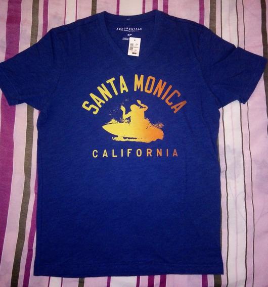 Camiseta Aeropostale Azul (p) 100% Original!!