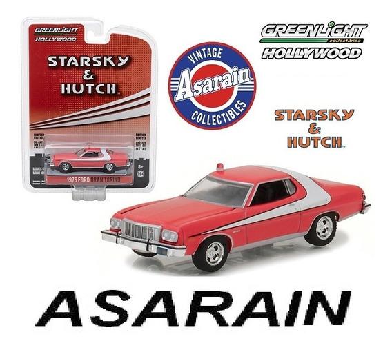Ford Grand Torino Starsky Hutch Hollywood 18 Greenlight 1/64
