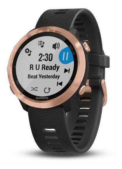 Relógio Forerunner® 645 Music Preto Ferragem Em Ouro Rosa