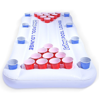 Gopong Pool Lounge Beer Pong Inflable Con Flotante Social