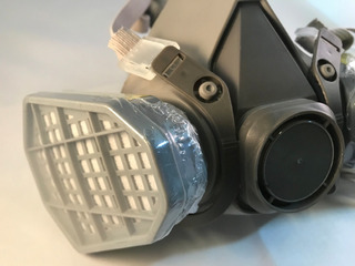 Juego.x2 Filtros Mascara Pintor Automotriz Carbon Gases F124
