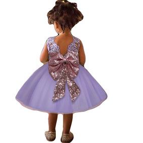 b444bef597 Vestido Para Niñas Morado Bodas Fiestas Comunion Fkkfyy