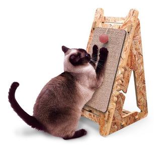 Rascador Gatos, Cuida Tus Muebles + Juguete + Hierba Gatera