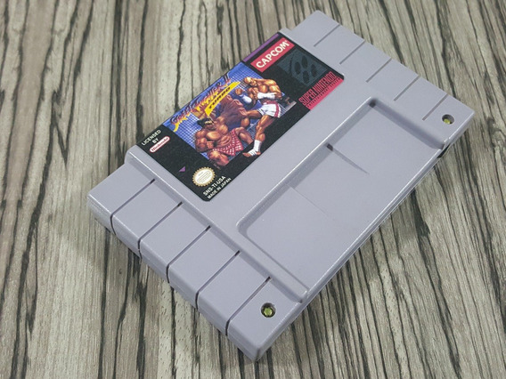 Street Fighter 2 Turbo Original Repro Snes + Frete Grátis!