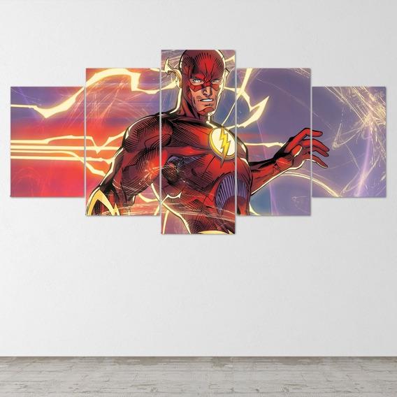 Quadro Painel Em Mdf 5 Partes The Flash Hq Quadrinhos