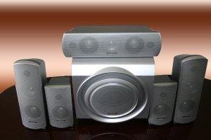 Panasonic Sb-w680 Subwoofer & 5 Parlantes De Home Theater 5.1 No Incluye Amplificador - Retira En Zona De Alto Palermo