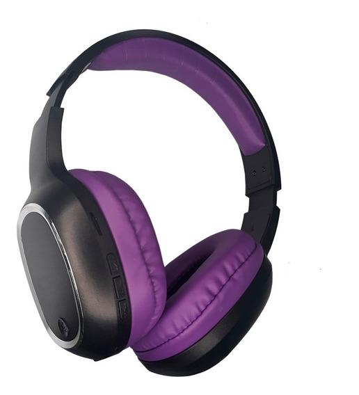 Fone Ouvido Bluetooth Mp3 Cartão Sd Fm Headphone Roxo