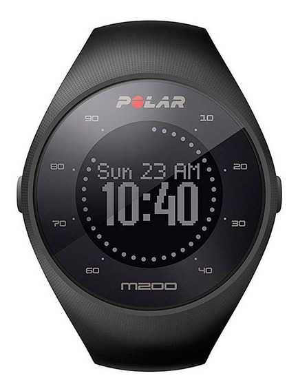 Smartwatch Medidor De Frecuencia Cardíaca Polar M200 Negro