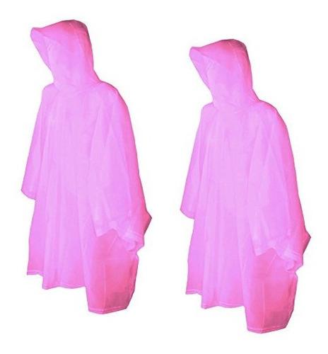 Totes Raines Poncho De Lluvia Para Niños Paquete De 2 (rosa