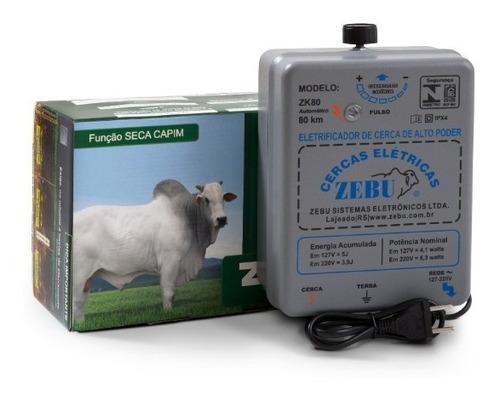 Imagem 1 de 5 de Eletrificador Cerca Rural 80km Zk80 Com Reg. - Zebu