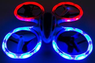Rc Mini Led Stunt Drone Quadcopter Rojo, Azul Cielo Patrolle