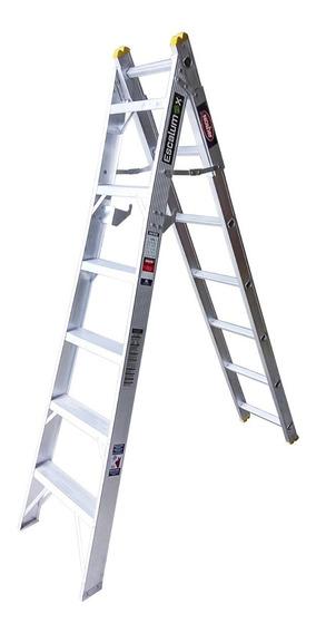 Escalera De Aluminio Convertible Doméstic 11 Esc Akron 82-03