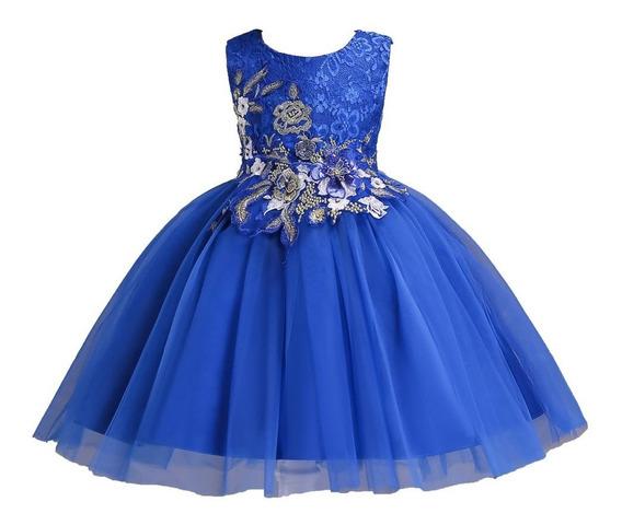 Vestido Infantil Daminha Bordado Boda Renta Princesa De Lujo