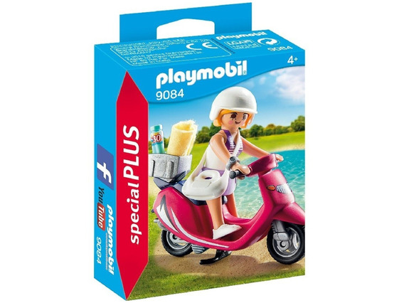 Playmobil Special Plus 9084 Mujer Con Scooter Original Intek