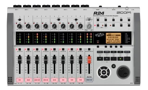 Zoom R24 Mesa Gravadora, Mixer E Interface De Áudio