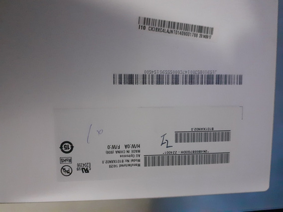 Tela Led Slim 10.1 B101xan02.0 Conector Inferior Esquerdo