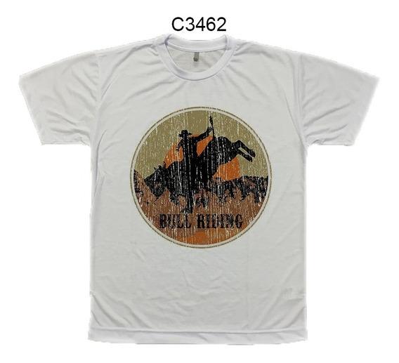 Camiseta Masculina Bull Riding Montador De Touro C3462
