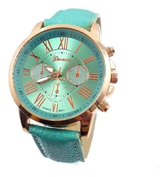 Reloj Dama Turquesa Romanos Moda Promo