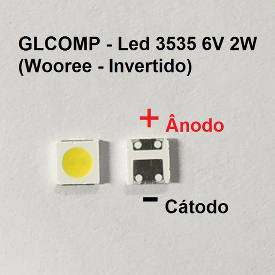 Led Smd Tv 3535 6v 2w Wooree Invertido Sharp 200 Pçs - Carta