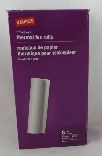 Rollos Térmicos De Fax Núcleo De 1/2 Pulgada 49 Pies 6 Rollo