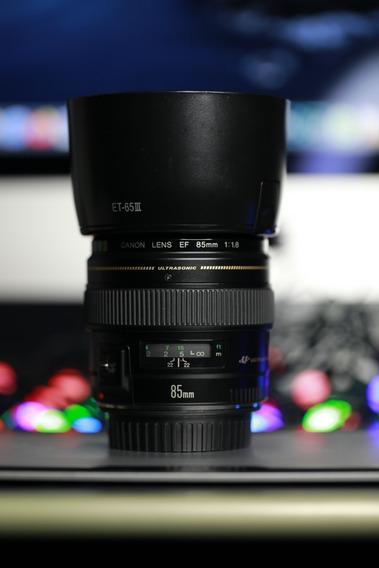 Lente Canon 85mm 1.8 Usm Ef Com Parasol