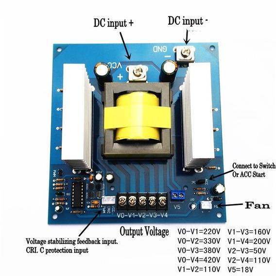 Conversor Dc Ac Dc 12v Para 220v 380v 18v Ac 1000w Inversor