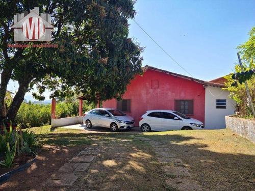Imagem 1 de 30 de Linda Chácara Com 2 Casas, 4 Dormitórios, Horta, Pomar, Jardim, À Venda, 1211 M² Por R$ 350.000 - Zona Rural - Pinhalzinho/sp - Ch1019