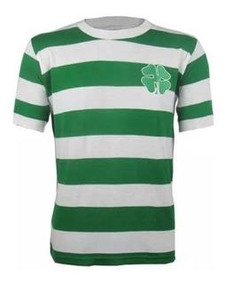 Camisa Retrô Celtic Football Club 1967 Blusa Trevo