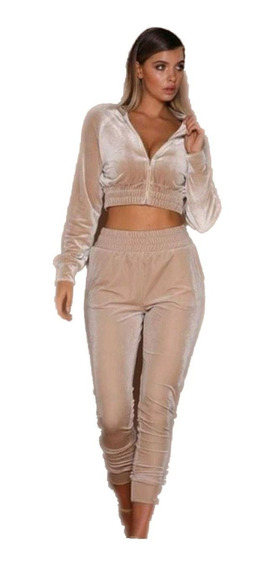 Conjunto Velvet Terciopelo Mujer Campera Y Pantalon