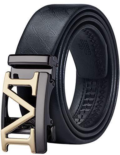 Cinturon De Cuero Para Hombre, Piel Autentica, Con Hebilla A