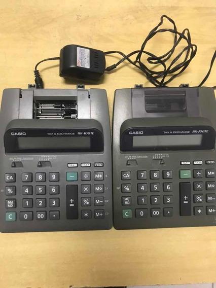 2 Calculadoras De Mesa Casio Hr100te