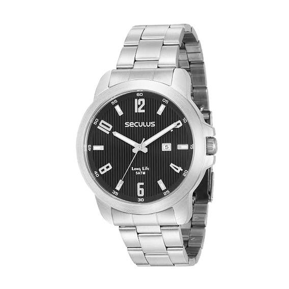 Relógio Masculino Seculus Prata