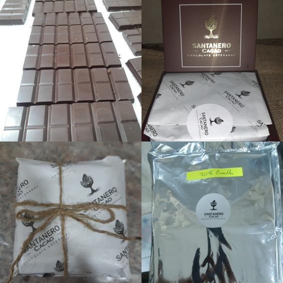 Chocolate Artesanal A La Taza Barras Chocolate Al 70% Cacao