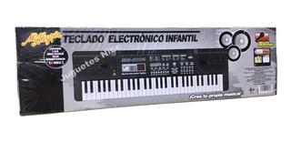 Teclado Electronico Infantil Mi Alegria Con Microfono Nuevo