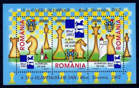2002 Juegos- Olimpiada Ajedrez - Rumania Mnh