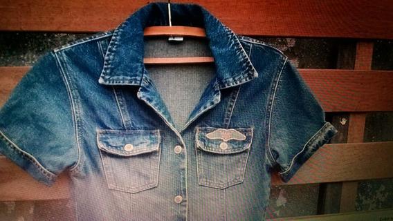 Vestido Jeans Planet Girl Tamanho 38
