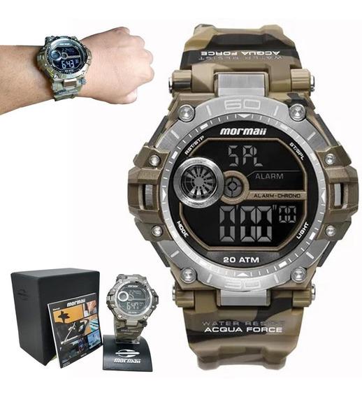 Relógio Mormaii Masculino Prova Agua Original Mo14073ab/8m