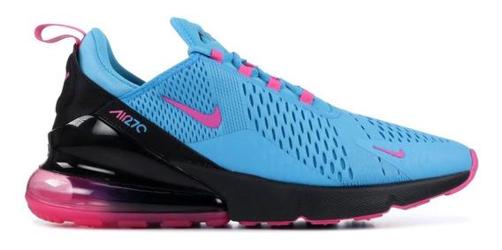 Tenis Nike Air Max 270 Azul C/ Rosa#26, 26.5, Cm Buen Fin