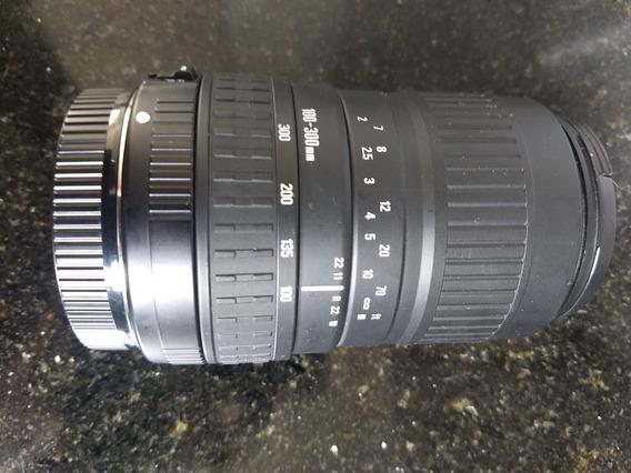 Lentes De Câmera Sigma 100-300mm Cânon.