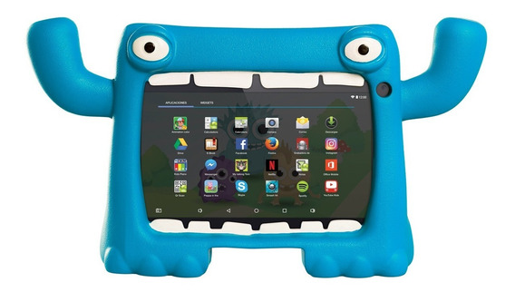 Funda Tablet 7 Pulg Niños Antigolpes Monster Mymo Level Up