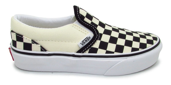 Tenis Vans Classic Slip On Checkerboard Vn000zbueo1 Black Wh