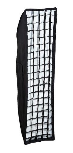 Imagen 1 de 10 de Soft Box Strip Grid Panal Visico 35x140cm Montura Bowens